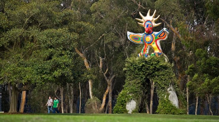 Sun God by Nikki de Saint Phalle, Muir College, UCSD