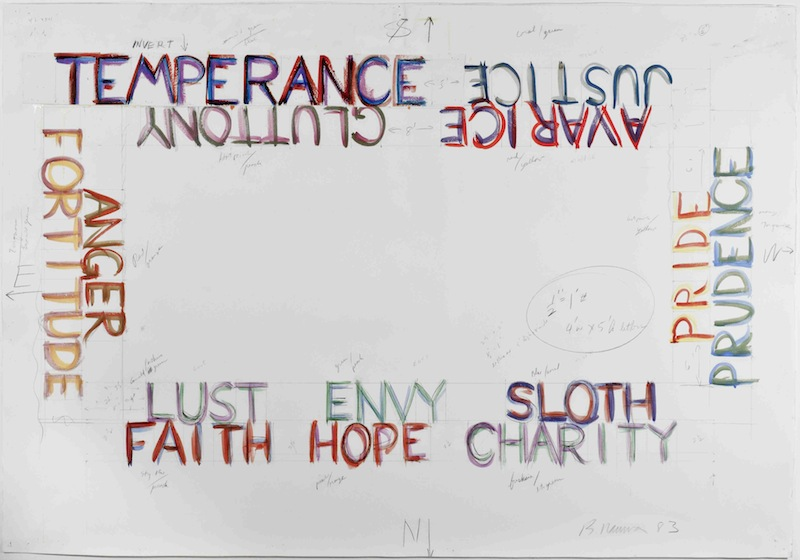 Bruce Nauman Vices And Virtues